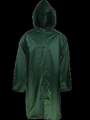 regnfrakke med lynlås
